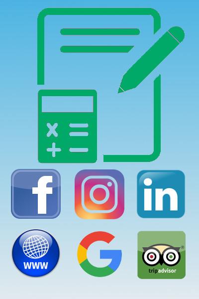 Preventivi prezzi-Facebook-Instagram-Linkedin-Sito-Google-Trip Advisor-Padova