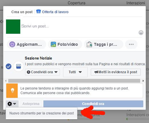 Come-pubblicare-su-Instagram-utilizzando-Facebook-dal-pc-istruzioni-4-Nuovo strumento per la creazione dei post