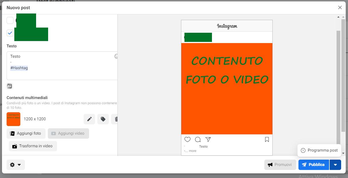 Come-pubblicare-su-Instagram-utilizzando-Facebook-dal-pc-istruzioni-7-Nuovo strumento per la creazione dei post